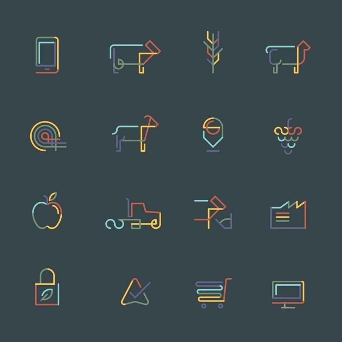 Part of the visual identity for Aglive. #design #icons #icondesign #iconapop #monoline #linework #visforvector #illustration #vectordesign #