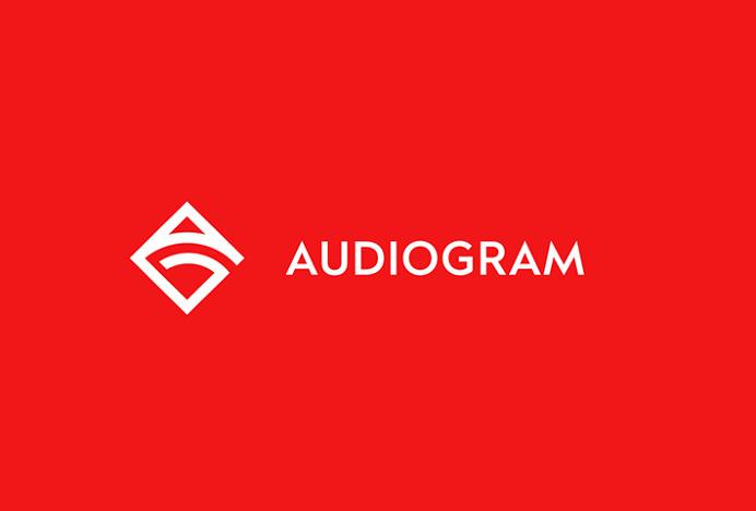 Audiogram by Philippe Gauthier and DeuxHuitHuit #logo #mark #symbol #red #logotype