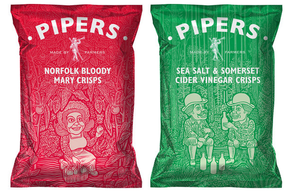 Founded : Pipers Crisps #packaging