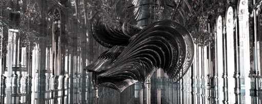 CG ghost of harps and strings created for Iris van Herpen News Digital Arts #3d