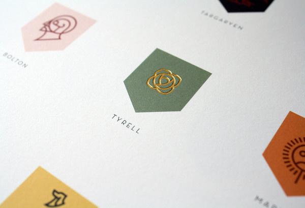 7 | A Top Nike Designer Rebrands Game Of Thrones | Co.Design: business + innovation + design #gold #logo #brand #rebrand