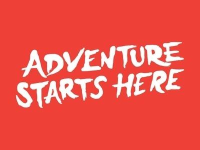 Adventure Starts Here #lettering #adventure #brush #custom #type #typography
