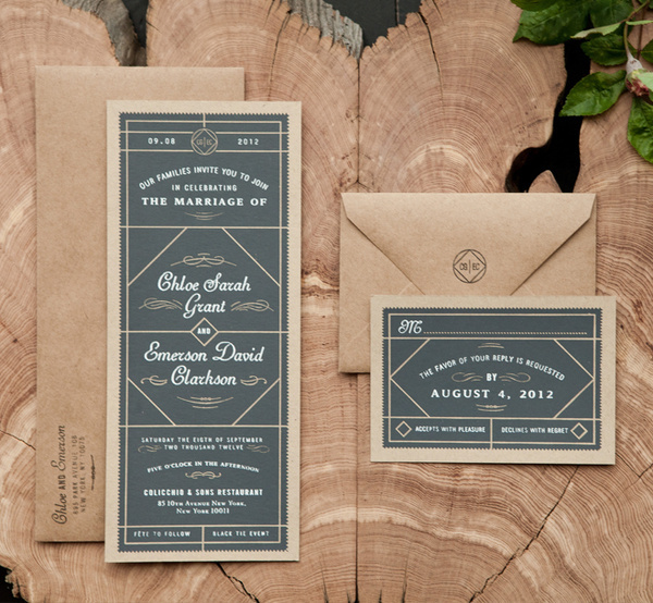 Wedding Set — Two Arms, Inc. #print #wedding #stationery #envelope #invite
