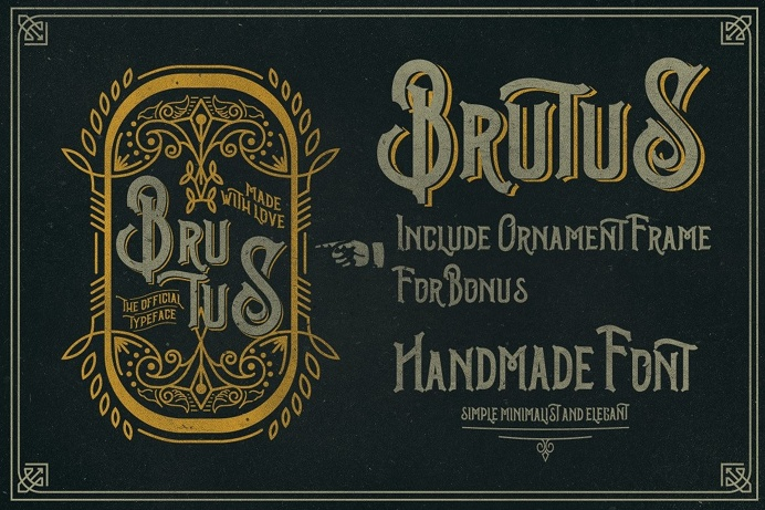 Brutus Typeface Extras - Display - 2