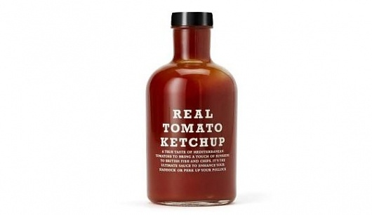 Jamie Oliver – Real Tomato Ketchup | SwipeLife #oliver #ketchup #packaging #jamie #typography