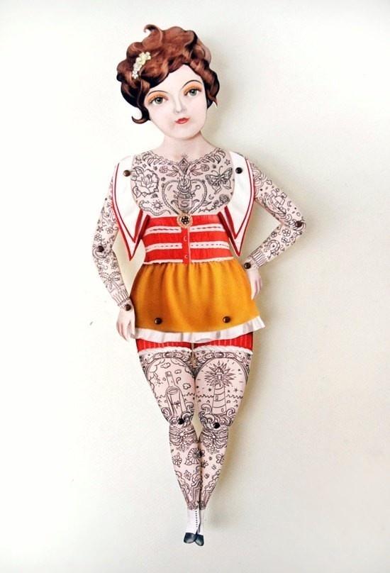 Paper Doll #doll #tattoo #tatoo #paper #toy