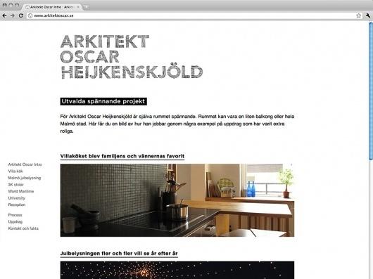 Arkitekt Oscar : Casper Heijkenskjöld, Graphic design Art direction #website #design #web #branding