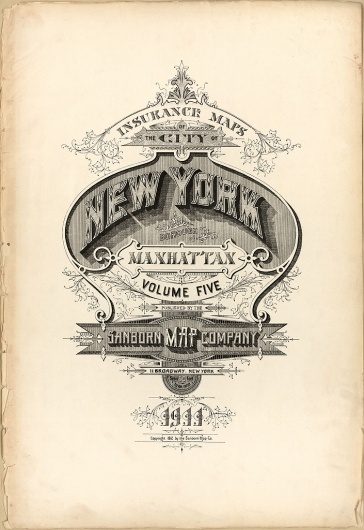BibliOdyssey: Sanborn Fire Insurance Map Typography #graphic #retro #ornament #poster #typography