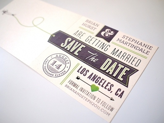 Wedding - Save the Date : the creative work of Brian Hurst #typography