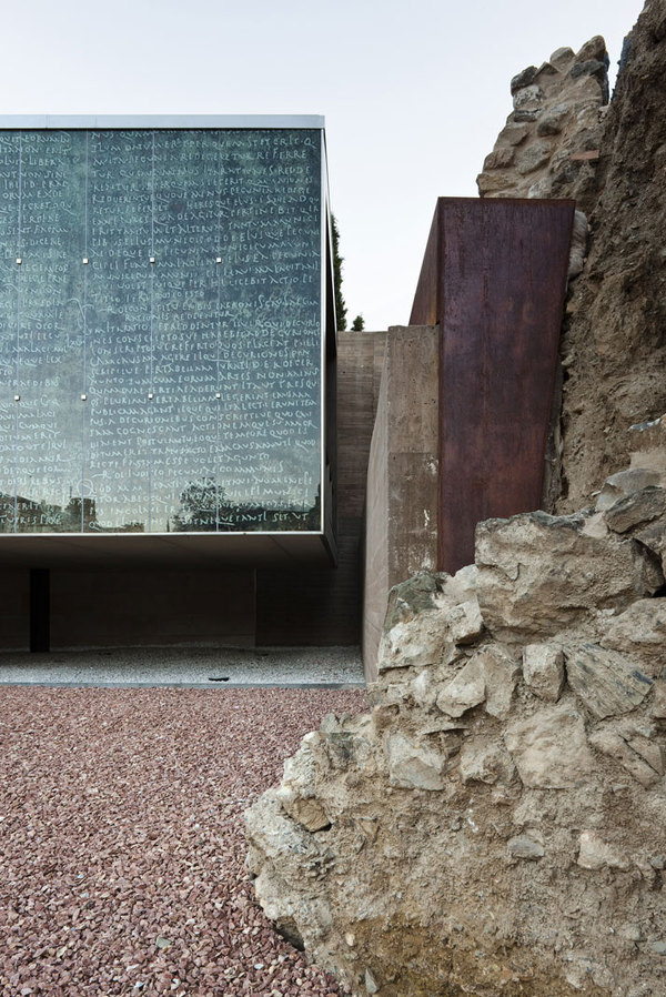Visitor Centre of The Roman Theatre of Málaga by Tejedor Linares & Associates | Yatzer #architecture #stone #facades
