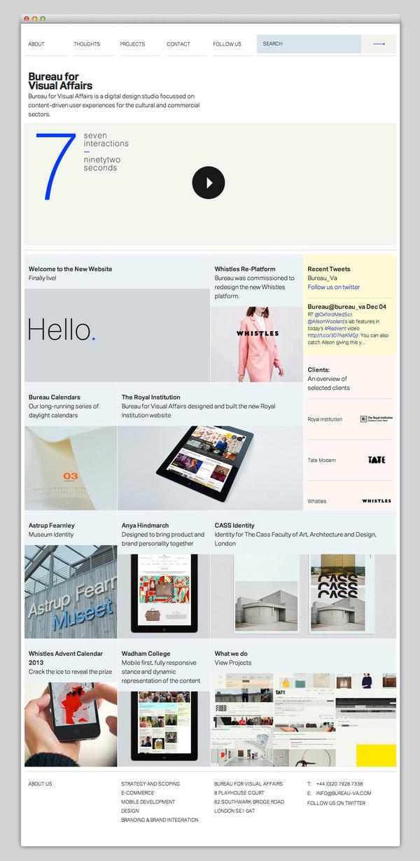 Bureau for Visual Affairs #website #layout #design #web