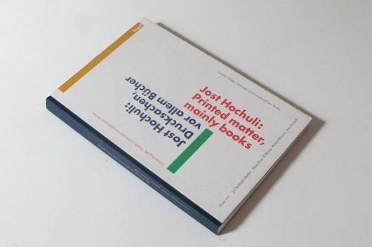 Thinking Jost Hochuli: Printed Matter, Mainly Books by Jost Hochuli #hochuli #book #typography