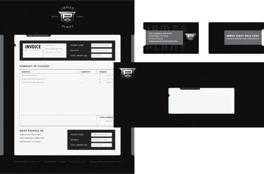 James Plant Race Cars :: Joseph Blalock Design Office #crown #automotive #grayscale #crest #black #shield #system #stationery #paper