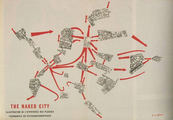 The naked City. Guy Debord #drift #map
