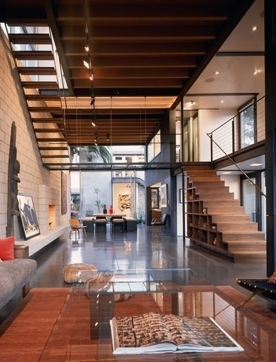 Pictures - 700 Palms Residence - Architizer - Empowering Architecture: architects, buildings, interior design, materials, jobs, competitions #steel #concrete #structure #wood #architecture #stair #exposed