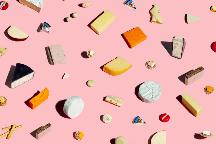 kristian van der beek #pink #collage #cheese #fromage
