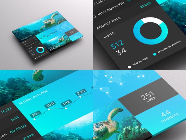 SJQHUB™ Visual Data UI dashboard on Behance #flat #branding #timeline #portal #infographic #menu #dashboard #stats