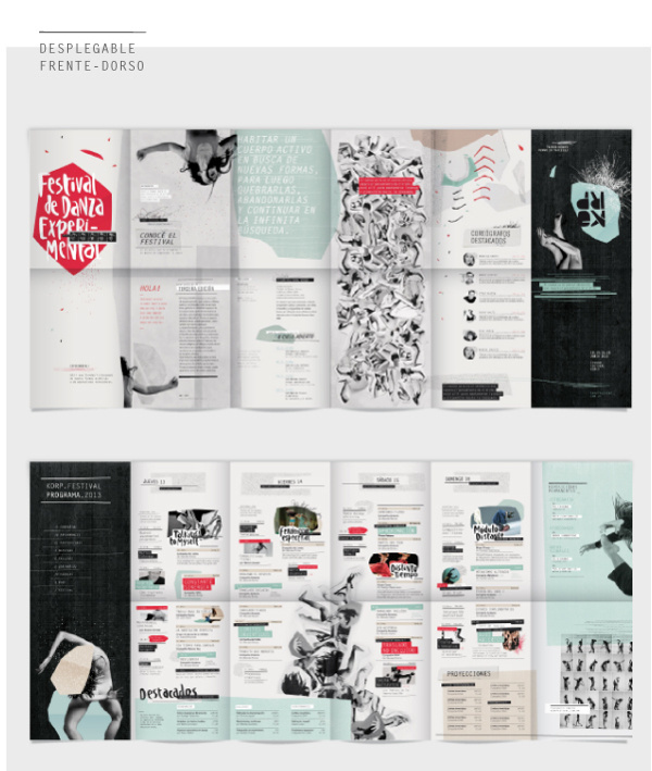 KORP. Festival de Danza Experimental - Parte I on Behance #dance #design #graphic #festival