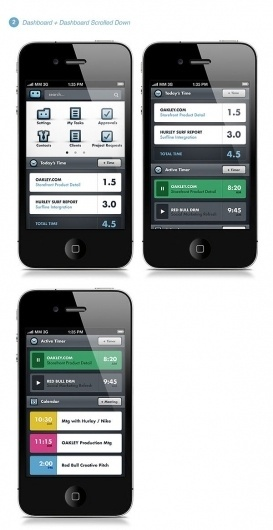 Workamajig® Mobile App on the Behance Network #mobile #interface