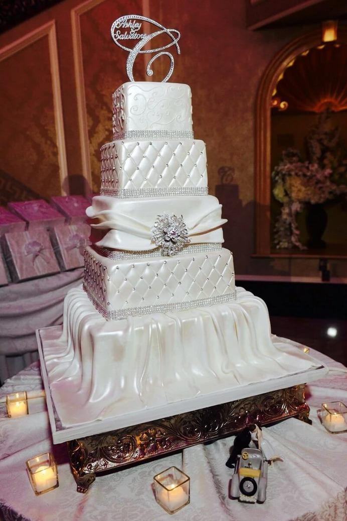 Crystal winter wedding Cake