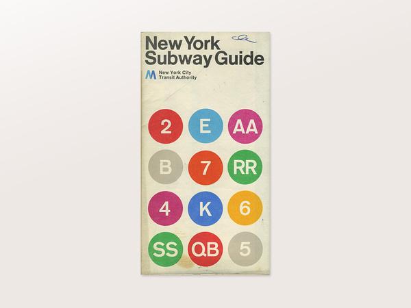 New York Subway Guide #massimo #vignelli #subway #york #new