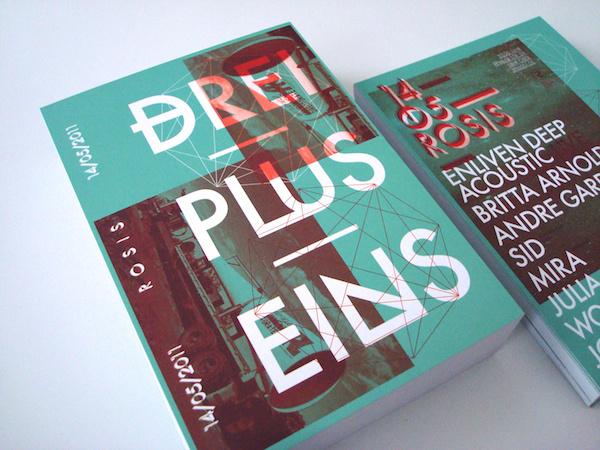 DREI PLUS EINS / Flyer on Behance #cover #design