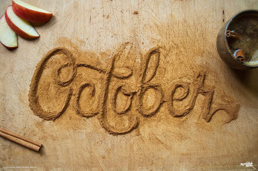 DanielleEvans_FoodType_01 #caligraphic #spice #food #photography #type #typography