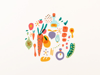 Abierto driblle #illustration #vegetables #cooking