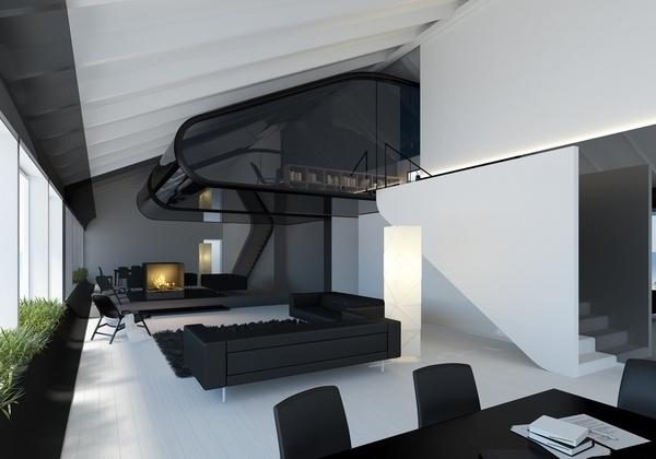 Laisves Avenue apartment on the Behance Network #interior #visualisation #dizonaurai #black #glass