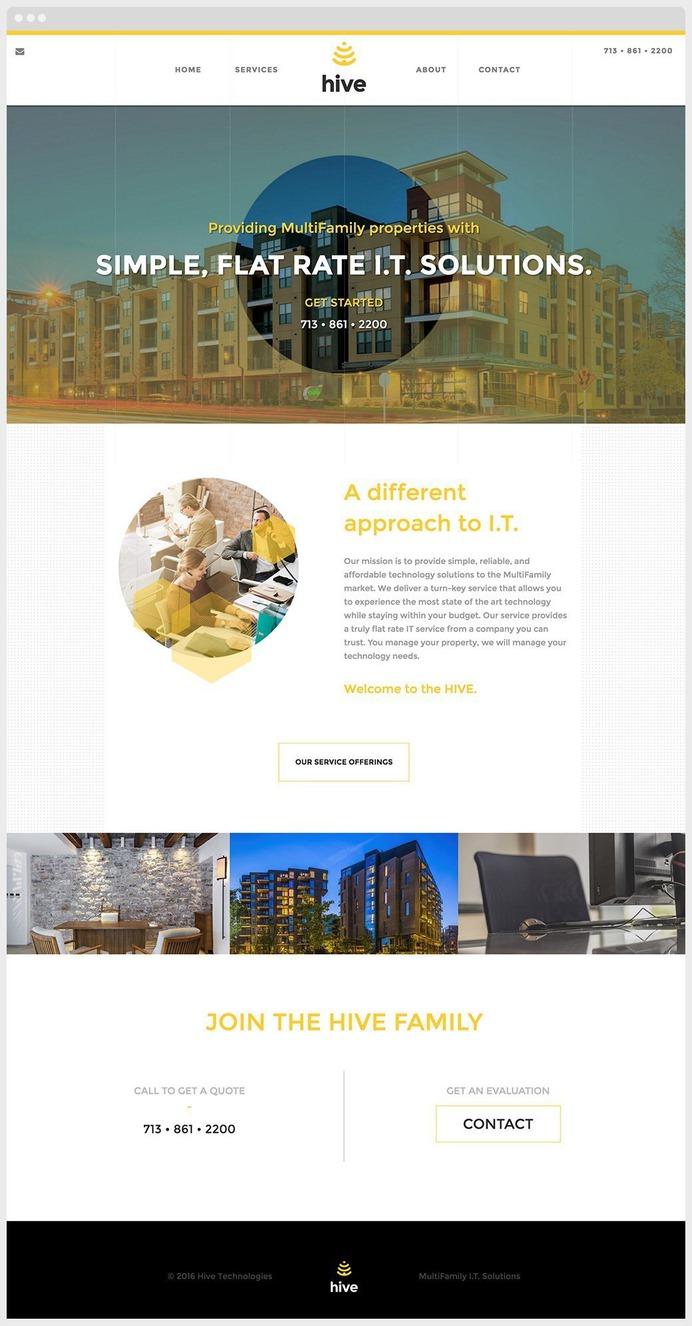 Hive Technology Website Sample #website #webdesign #design #houston