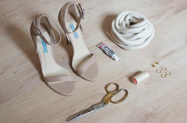 DIY knotted rope heels 1 #diy #knot #rope #heels