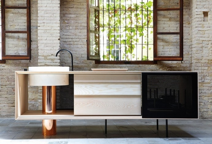 Mut Design created a mobile kitchen for Miras Editions - www.homeworlddesign. com (2) #furniture #kitchendesign