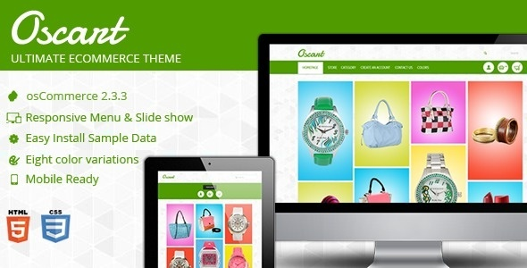 Oscart - Mobile Ready Oscommerce Website #oscommerce #site #responsive #clean #theme #skin #mobile #template #ready