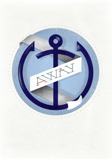 Designersgotoheaven.com Awayby @AndreiRobu. Buy... - Designers Go To Heaven #andreirobu #anchor #poster