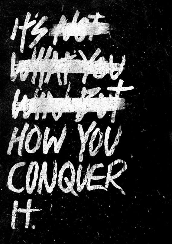 Creative Review - Conqueror's Typographic Games winners #conquer #win #poster #typography
