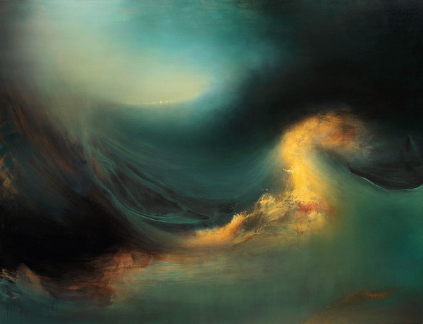 Internal Landscapes: Sweeping Abstract Oceans by Samantha Keely Smith #waves #oil