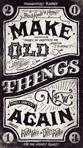 Visual Graphic #old #handlettering