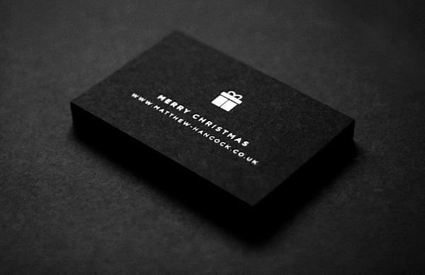 Matthew Hancock #hancock #swiss #white #business #gotham #card #black #christmas #matthew #minimal #and #cards