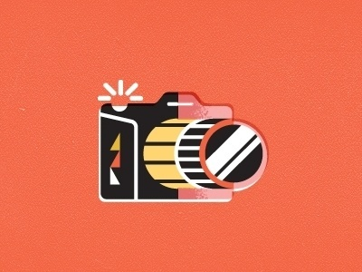Dribbble - Camera by Javier Garcia #icon #illustration #film