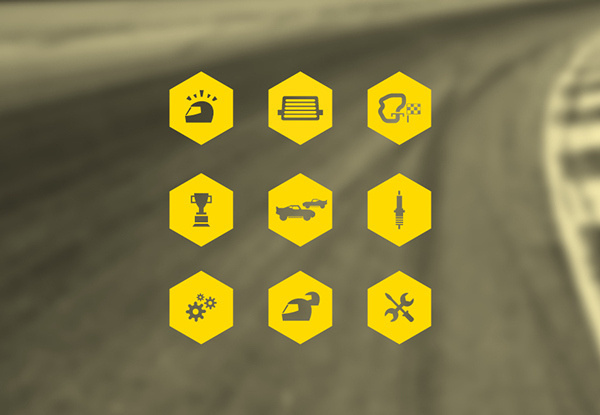 NASCAR // On Track on Behance #manly #icon #logo #layout #race