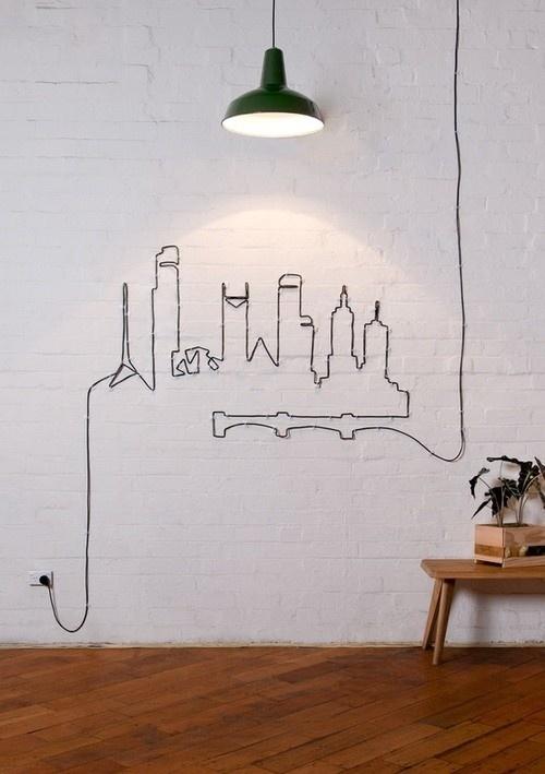 Wall art #DIY #lamp