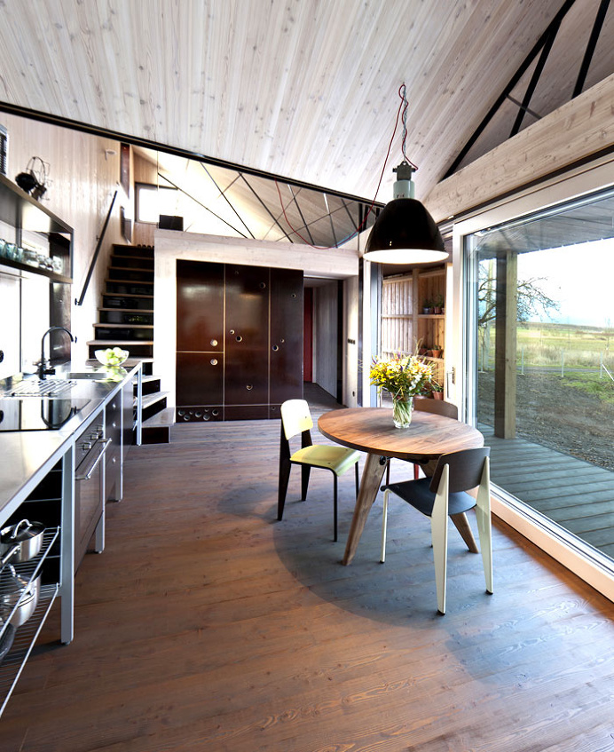 Modernistic Wooden House Zilvar -#diningroom, #table, #chairs, #interior, #decor, dining area