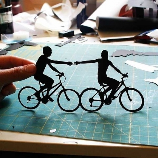 Beautiful Hand-Cut Paper Silhouettes - My Modern Metropolis #papercut #illustration