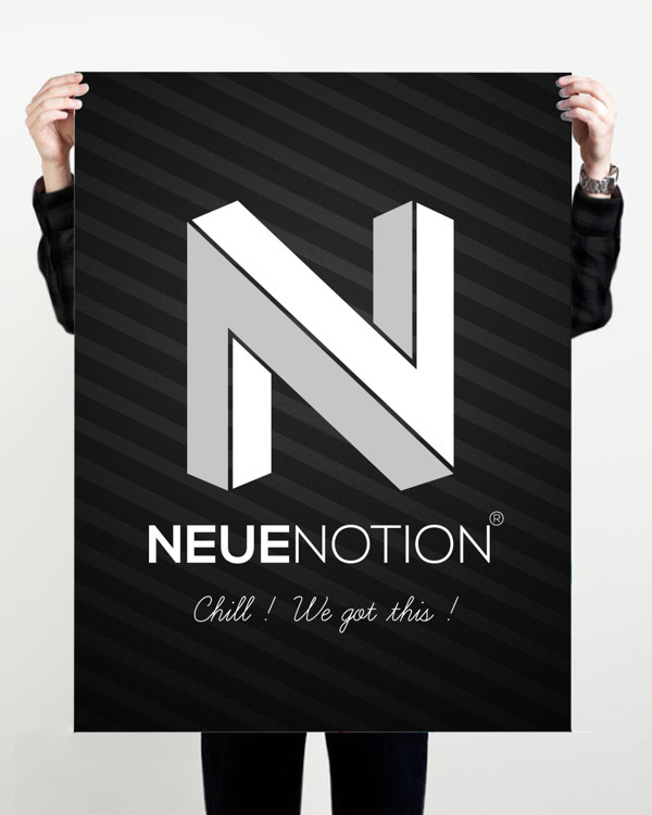Neue Notion Official Logo Design #neue #branding #notion #design #corporate #system #firm #identity #logo
