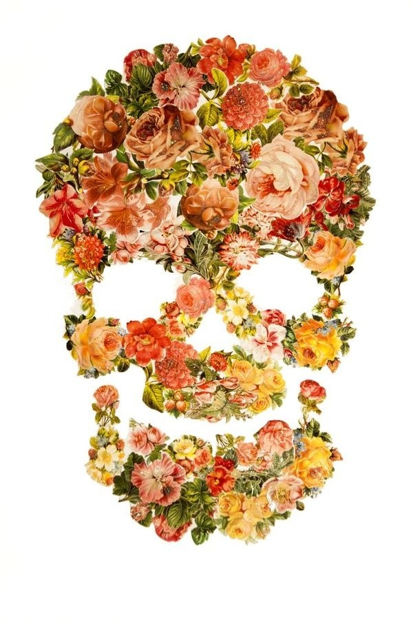 Death in bloom by Adria Molins #swag #kitsch #roses #adria #bloom #art #barcelona #skull #death #molins #flowers