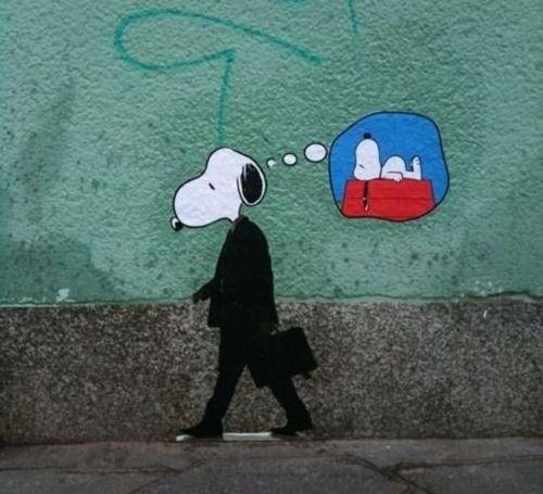 i'm not here #graffiti #political #illustration #snoopy