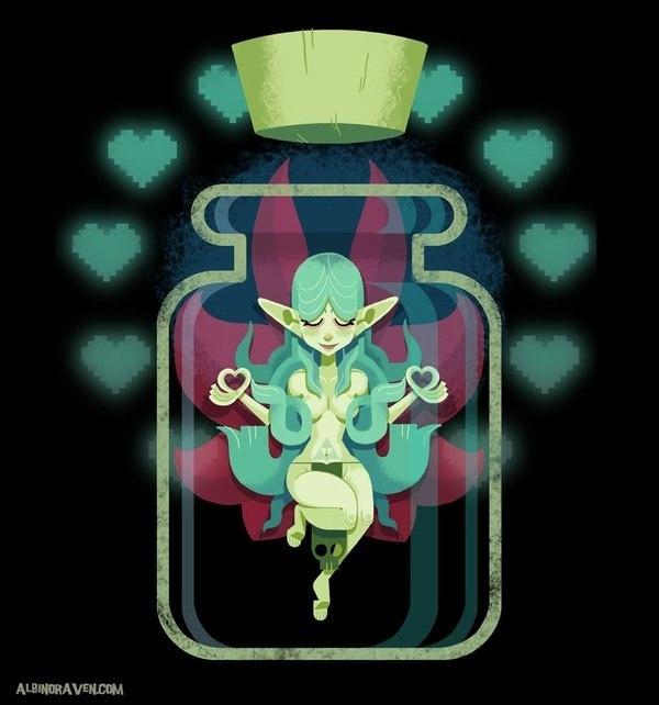 Albino Raven Bottled Fairy #legend #fairy #bottle #of #design #character #zelda