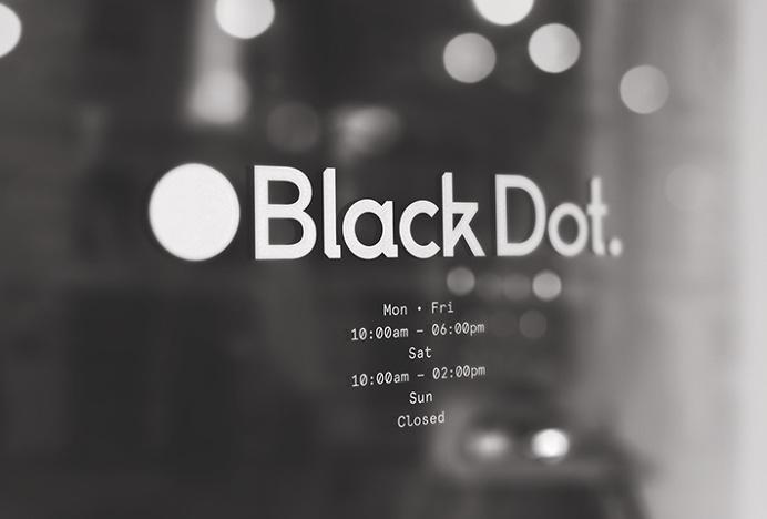 Black Dot. by A&A #graphic design #glass #print #circle