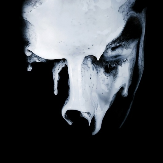 SELF-PORTRAITS I on the Behance Network #white #black #photography #portrait #and