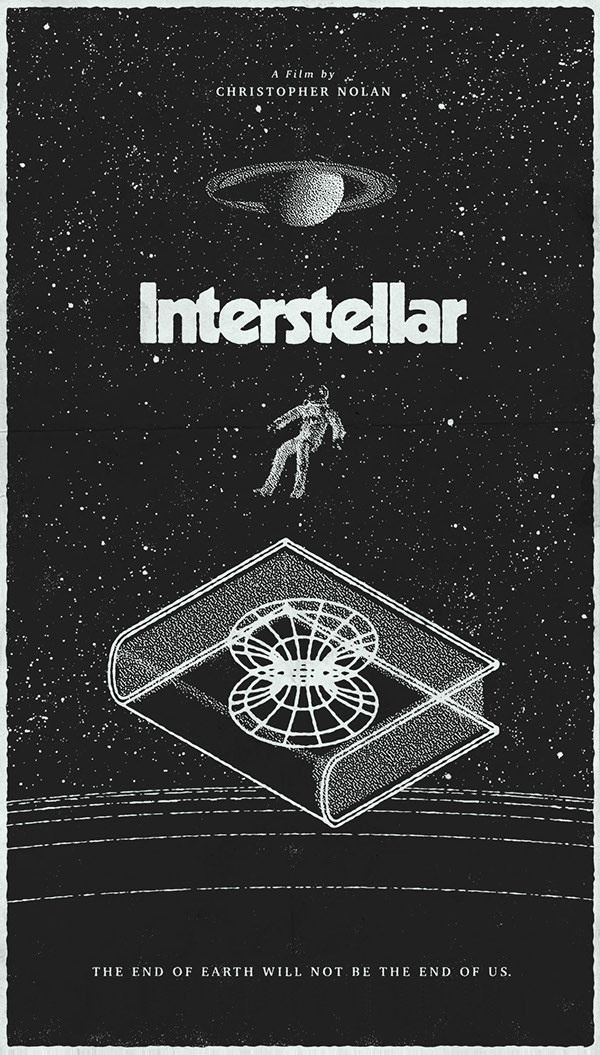 Poster by Michael George Haddad #inspiration #creative #movie #interstellar #print #design #space #unique #poster #film